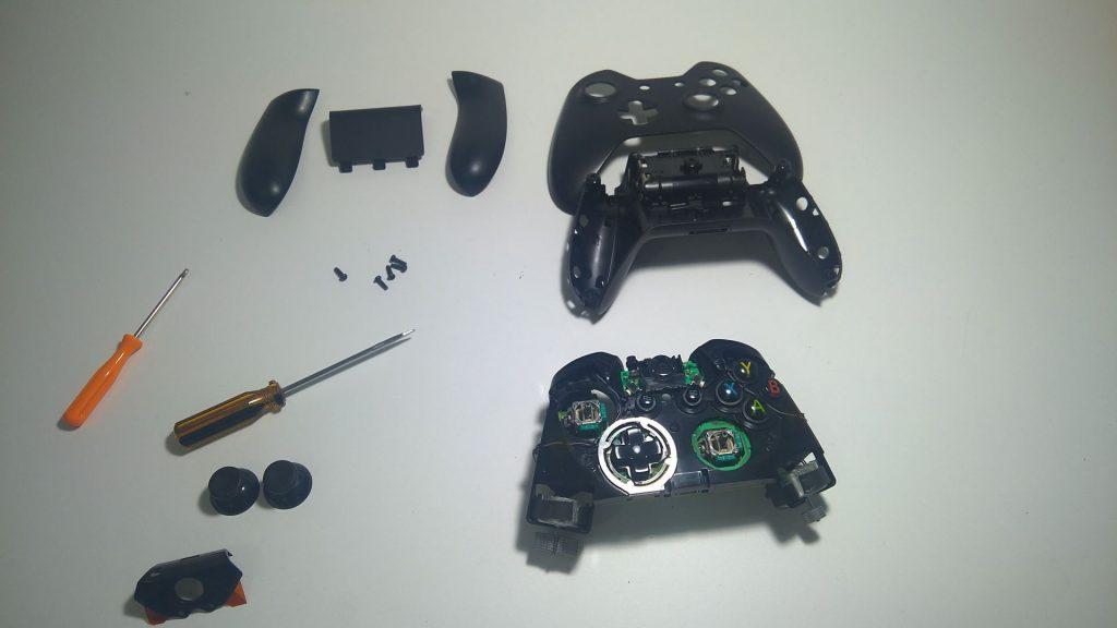 Controle do Xbox Aberto